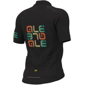 Alé Cycling Solid Mirror Kortærmet cykeltrøje Herrer sort/farverig